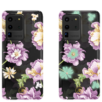 Чехол Kingxbar Spring для Galaxy S20 Ultra Purple Flower