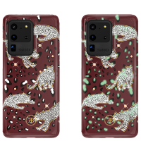 Чехол Kingxbar Spring для Galaxy S20 Ultra Red Leopard